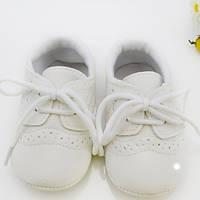 Детские пинетки для крестин из ПУ кожи для мальчика от 0 до 18 месяцев, фото 1