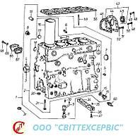 Двигатель Д 3900к - Блок цилиндров