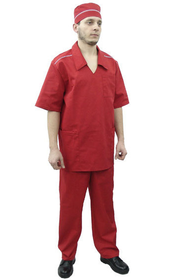 Красный комплект униформы для продавцов и промоутеров под заказ
