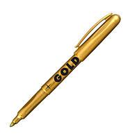 Маркер водостойкий Gold 1,5-3 мм, золотой Centropen 2690