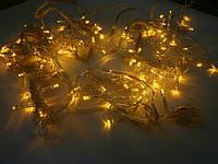 Гирлянда светодиодная «штора» 144 LED золото
