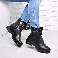 Ботинки женские Kols черные ЗИМА 3811 , зимние ботинки женские
