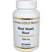 California Gold Nutrition, CGN, Красный дрожжевой рис, 1200 мг, 60 таблеток