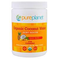 Pure Planet, Органическое кокосовое молоко, спасение связок, райский ананас, 160 г