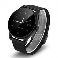 Lemfo smart wear (smartwatch) k88h black с металлическим ремешком