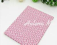 Отрез ситца для рукоделия розовый в мелкий цветочек