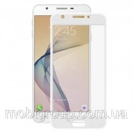 Стекло защитное 3D Samsung J5 Prime, White