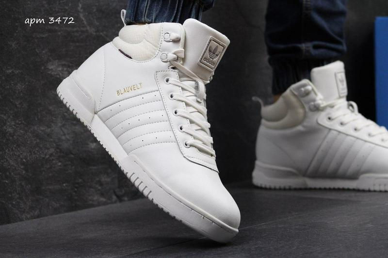 Чоловічі зимові кросівки Adidas Blauvelt (3471)білі 442dac420286c