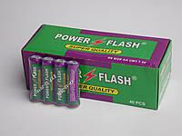 Батарейки Power Flahs R6  пальчиковые АА