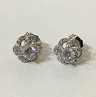 Серьги гвоздики Пион Xuping ювелирная бижутерия