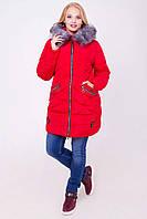 Женская зимняя куртка с натуральным мехом новинки 2017