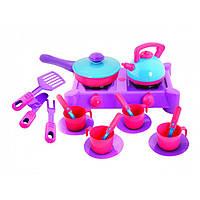 Плита с посудой 18 предметов 04-413 (Киндер-Вей)