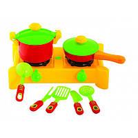 Плита с посудой 8 предметов 04-417 (Киндер-Вей)