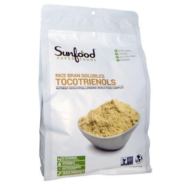 Sunfood, Растворимые токотриенолы из рисовых отрубей, 1 фунт (454 гр)