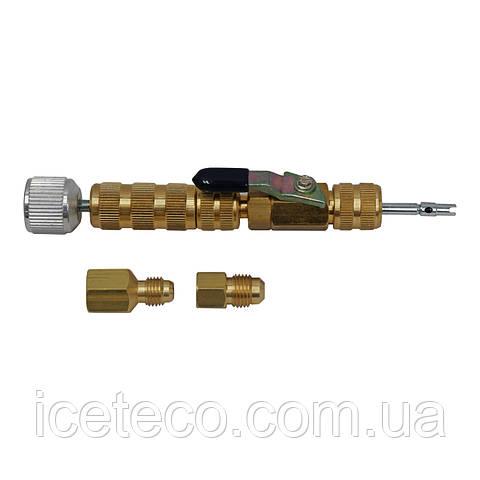 Вентиль (съемник) Mastercool МС 91498 для замены ниппеля под давлением без стравливания фреона R22/R410a