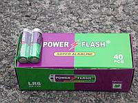 Батарейки Power Flahs Alkaline R6  пальчиковые АА
