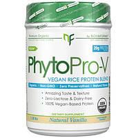 NovaForme, PhytoPro-V, сырой органический премиальный веганский рисовый белок, cертифицированный Министерством сельского хозяйства США (USDA), ваниль,