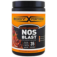 Body Fortress, Super Advanced NOS Blast, Fruit Punch, 1 lbs (454 g)