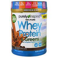Purely Inspired, 100% сывороточный протеин и зелень, декадентский шоколад, 680 г (1,5 фунта)