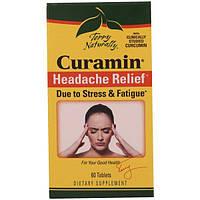 EuroPharma, Terry Naturally, Курамин, средство от головной боли, 60 таблеток