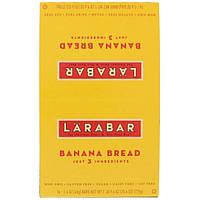 Larabar, Банановый хлеб, 16 батончиков, 1,6 унции (45 г) каждый