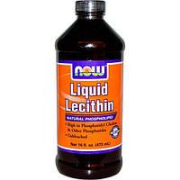 Now Foods, Жидкий лецитин, 16 жидких унций (473 мл)