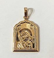 Подвеска иконка Божья матерь с младенцем Xuping ювелирная бижутерия