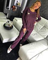 Костюм Doratti модный с люрексом свитшот и брюки трикотаж разные цвета Ddor711