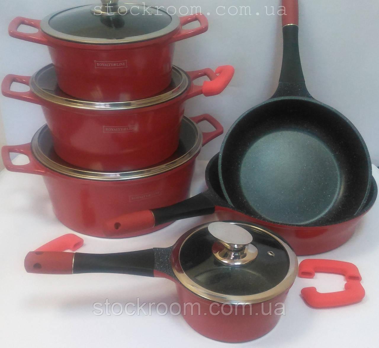 Набор посуды Royalty Line ES 1014 M с мраморным покрытием