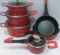 Набор посуды Royalty Line ES 1014 M с мраморным покрытием , фото 1