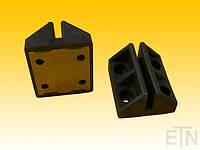 Порная Башмак ETN-VS 60 TPU, с улучшителем скольжения MoS2, для рельса 5 мм, для небольших грузовых лифтов и / или противовесов, с накладным