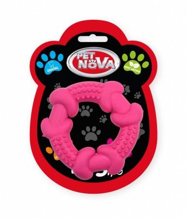 Іграшка для собак Кільце спеціальне Pet Nova 10.5 см рожевий