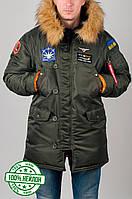 Куртка зимняя, парка, аляска, мужская, зима - 35 градусов, очень теплая! Супер качество!