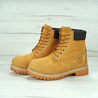 Ботинки Timberland Classic 6 inch Yellow High Quality мужские тимберленд (С мехом)