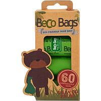 Beco Pets, Экологически безопасные пакеты для уборки за собакой, 60 биоразлагаемых пакетов, 4 рулона