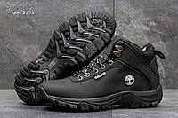 Мужские ботинки Timberland. Нубук Мех 100%. Черный