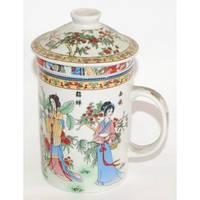 Чашка-заварник керамический, с крышкой и ситечком