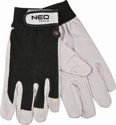 Перчатки рабочие, спилок, размер (шт.) NEO (97-603), фото 2