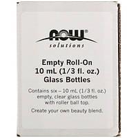 Now Foods, Empty Roll-On 10 ml (1/3 fl. oz.) Glass Bottles, 6 - 1/3 fl oz (10 ml) Bottles
