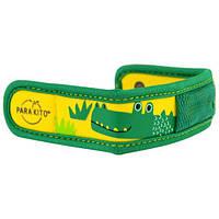 Para'kito, Браслет для отпугивания комаров + 2 пеллеты, детский, крокодил, набор из 3 предметов