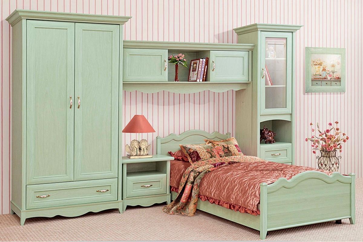Спальня подростковая Селина (ольха зеленая) - Интернет-магазин мебели,матрасов,товаров для детей и игрушек в Ирпене