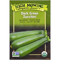 High Mowing Organic Seeds, Темно-зеленый цукини, 1/8 унции