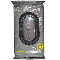 Method, Steel for Real Wipes, 30 Cleaning Wipes, 17 x 20 cm (7 x 8 in) Each