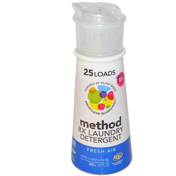 Method, 8х жидкое моющее средство для стирки с ароматом свежего воздуха, 25 стирок, 10 унций (300 мл)