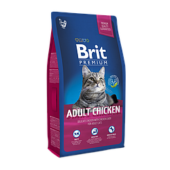 BritPremiumCatAdultChicken корм для взрослых котов с курицей 1,5кг