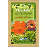 High Mowing Organic Seeds, Пчелиный сад, Коллекция органических семян, В ассортименте, 5 пакетов