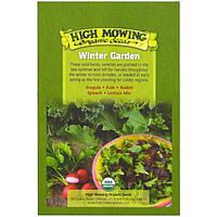 High Mowing Organic Seeds, Зимний сад, набор семян органического происхождения, пакет разных видов растений, 5 пакетов