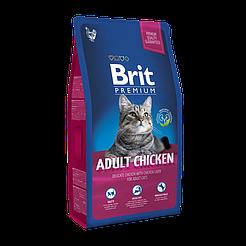 BritPremiumCatAdultChicken корм для взрослых котов с курицей 8кг