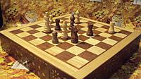 Шахматы деревянные с цельной доской размер 32*32