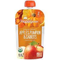 Nurture Inc. (Happy Baby), Органическое детское питание, особое приготовление, яблоки, тыква и морковь, 2-й этап, 6+ месяцев, 4 унции (113 г)